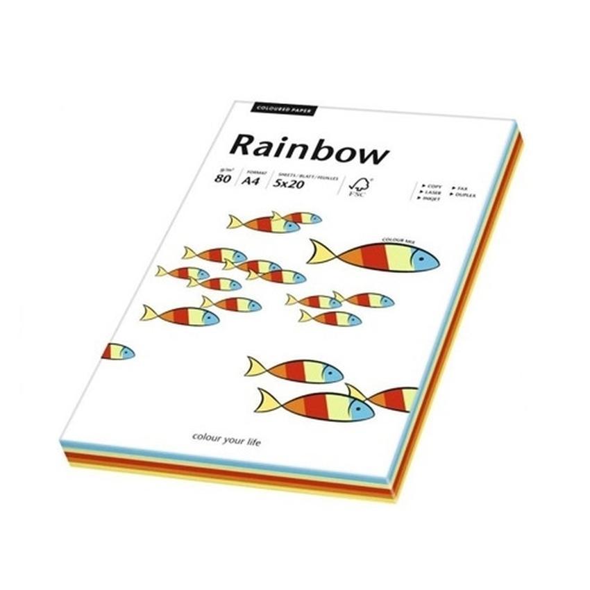PAPIER RAINBOW MIX A4