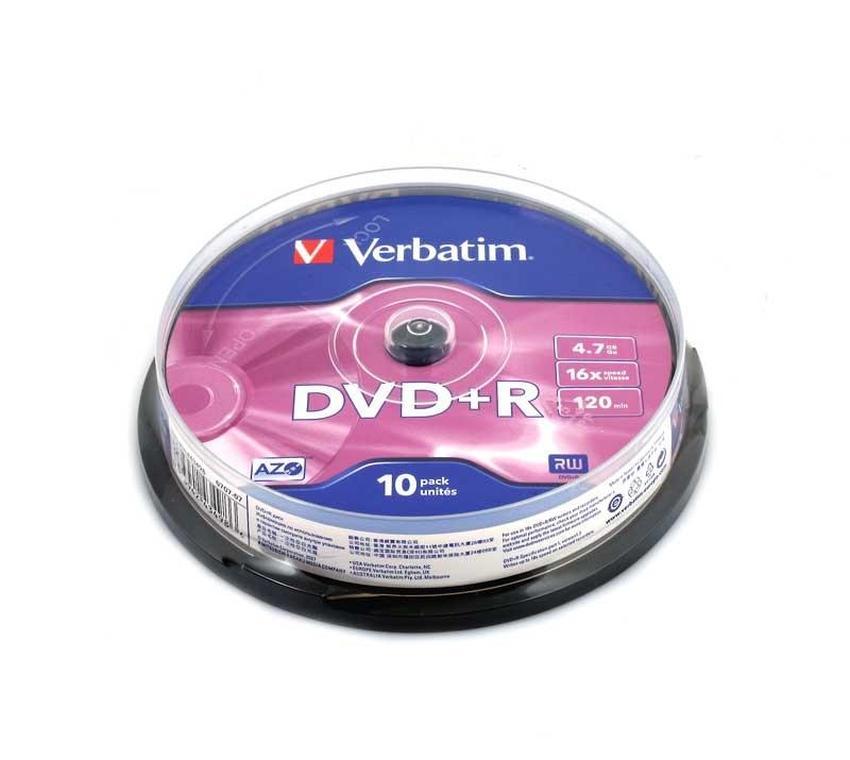 PŁYTY DVD+R VERBATIM 4,7GB