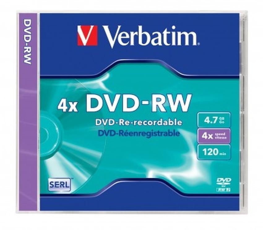 PŁYTY DVD-RW VERBATIM 4,7GB