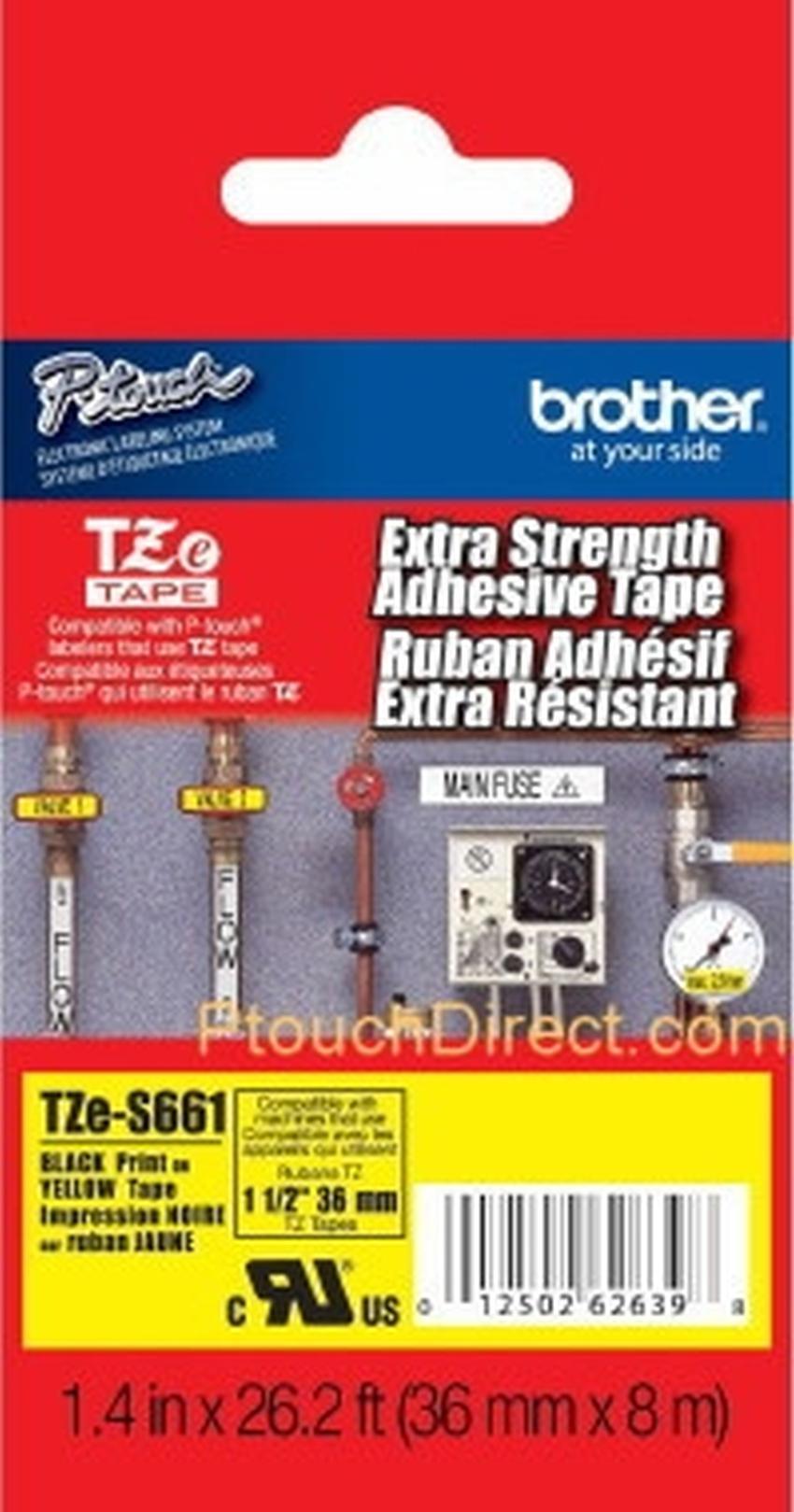 Etykiety laminowane Brother TZS661