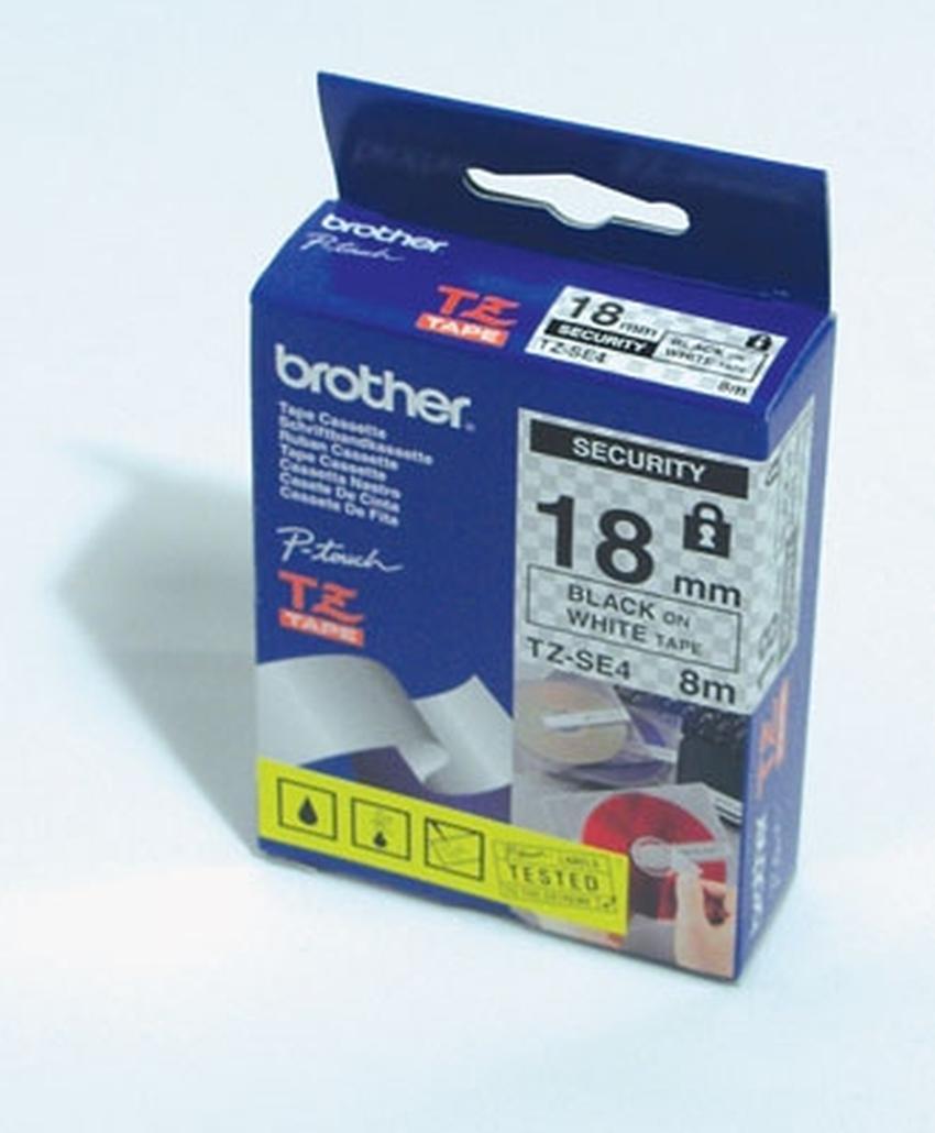 Etykiety laminowane Brother TZSE4