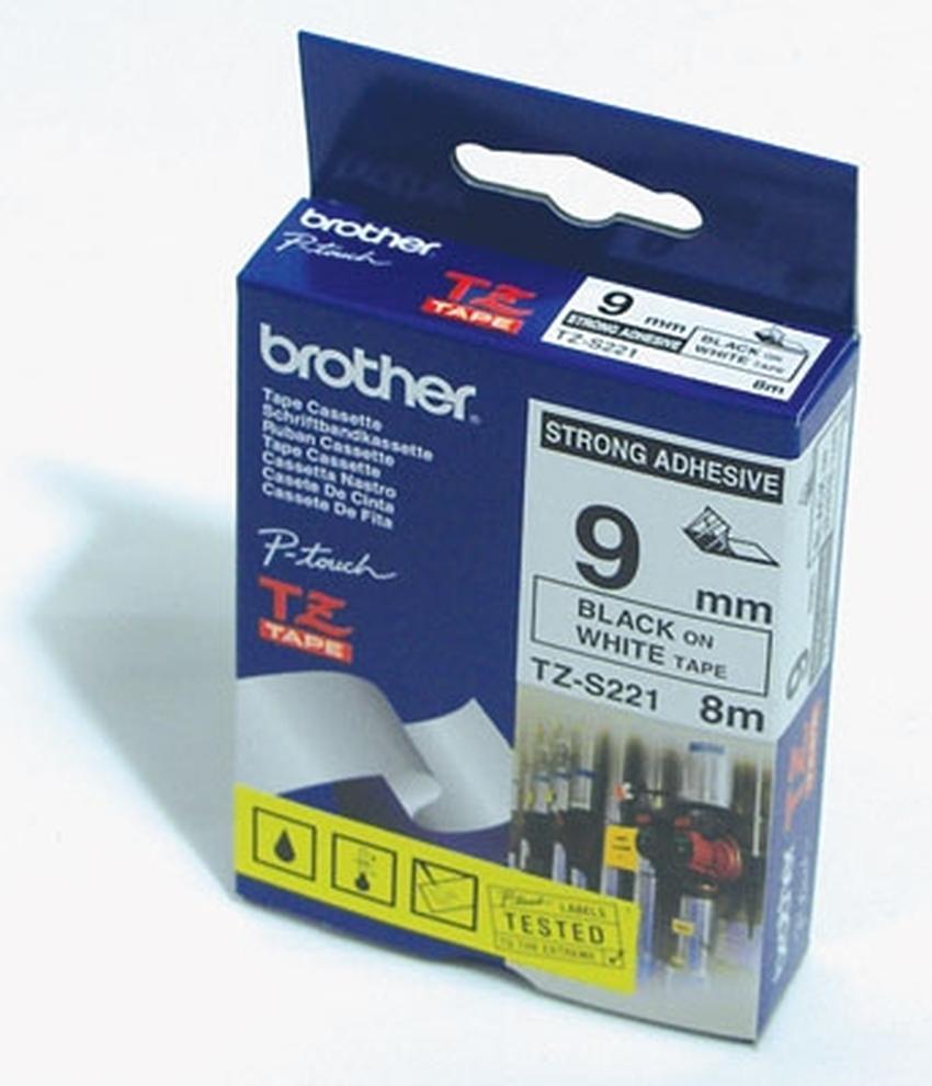 Etykiety laminowane Brother TZS221