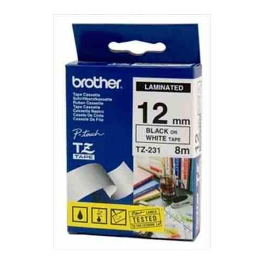 Etykiety laminowane Brother TZ231