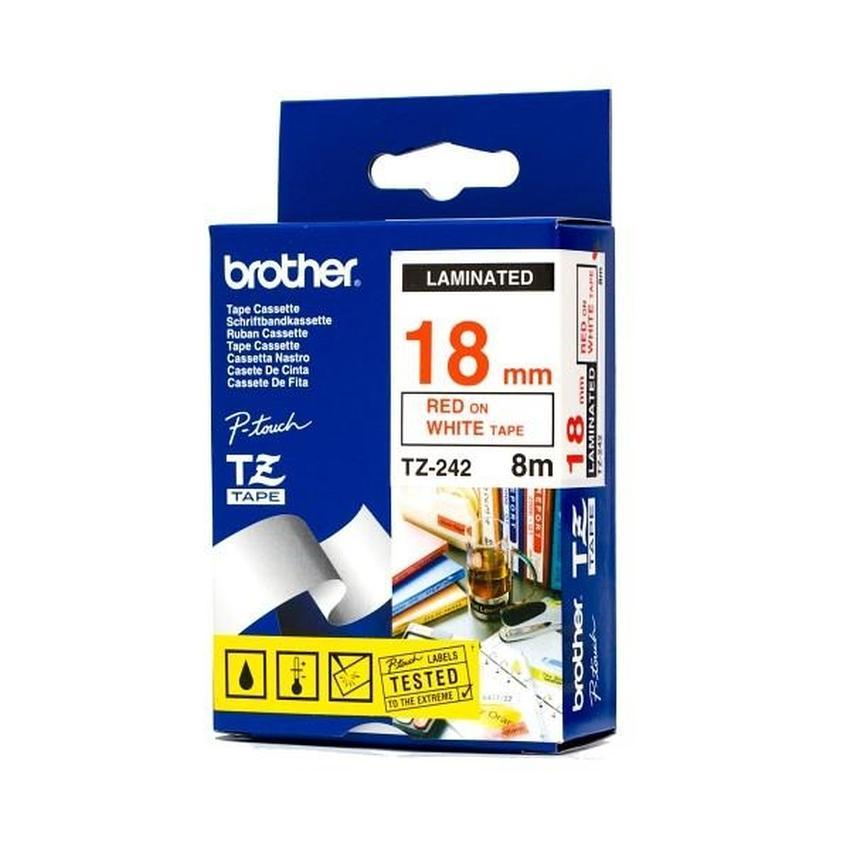 Etykiety laminowane Brother TZ242