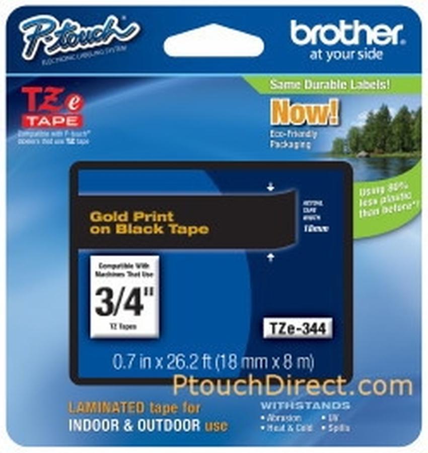 Etykiety laminowane Brother TZ344