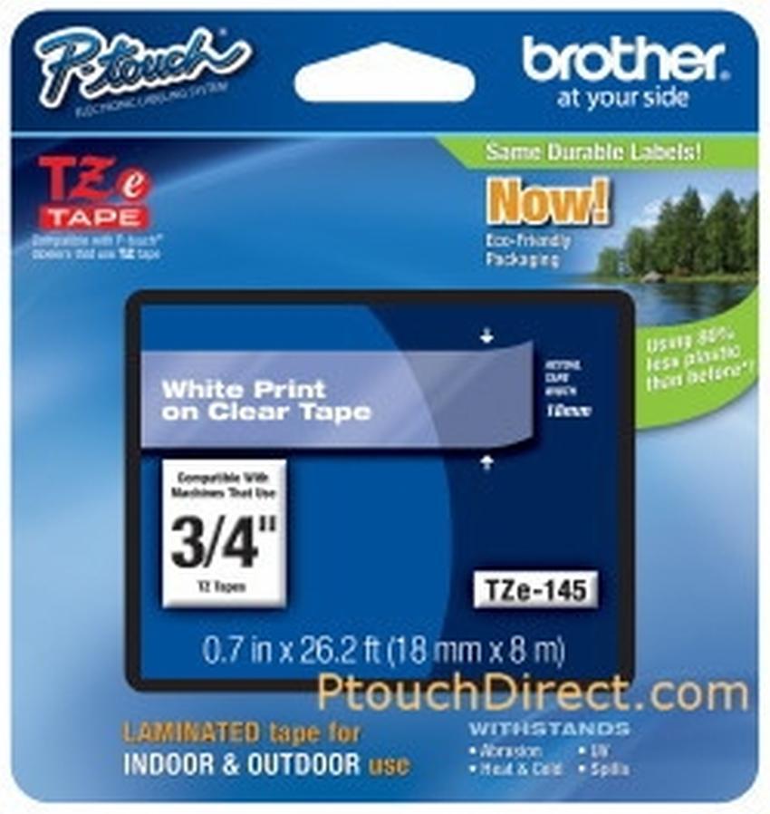 Etykiety laminowane Brother TZ145