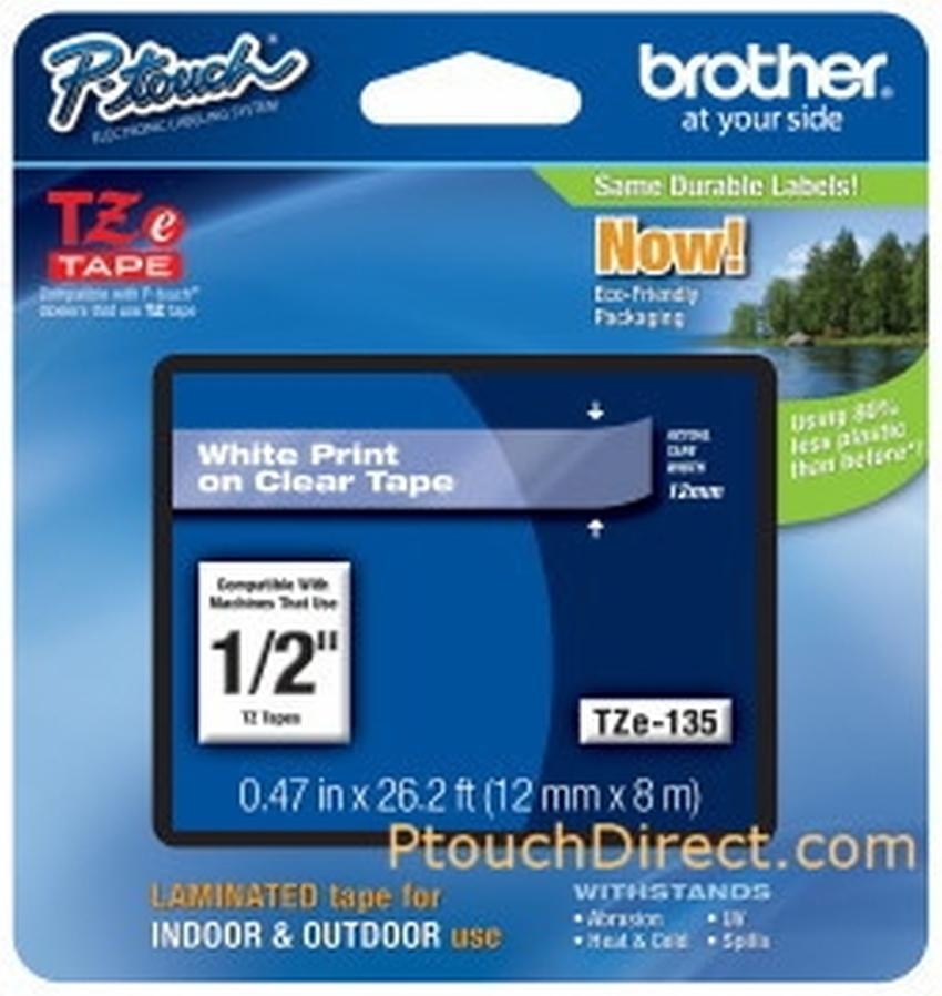 Etykiety laminowane Brother TZ135