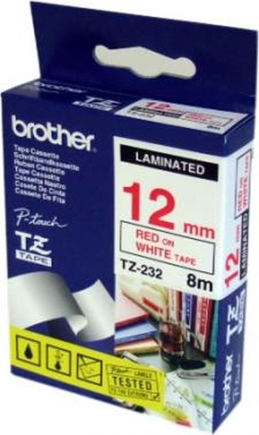 Etykiety laminowane Brother TZ232