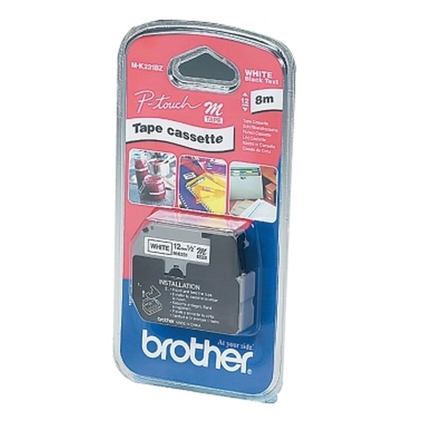 Etykiety laminowane Brother MK231BZ