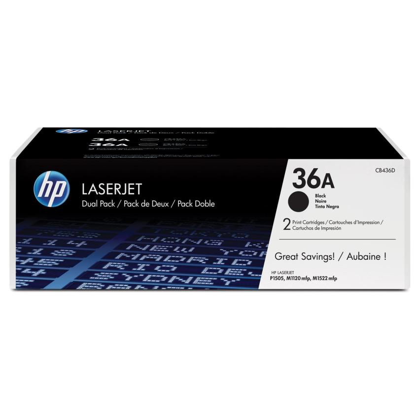 Toner HP 36A dwupak [CB436AD]