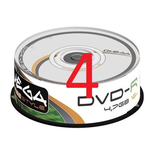 PŁYTY DVD OMEGA 4.7 GB