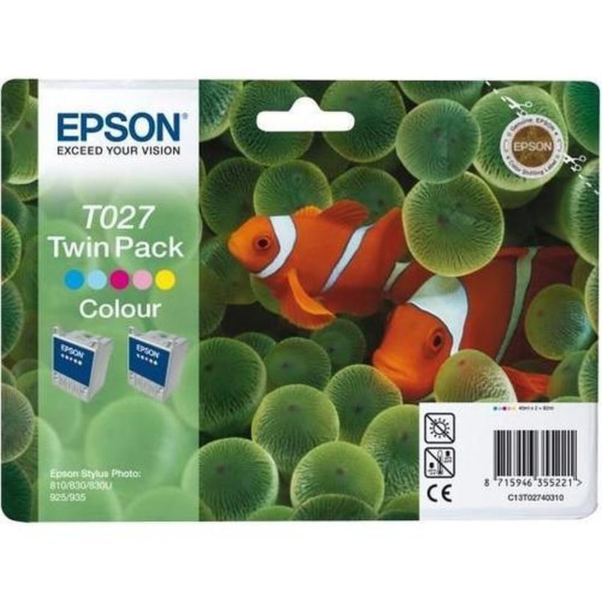 Tusz Epson T027 dwupak