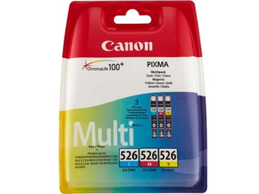 Tusz Canon CLI-526 Pack CMY [4541B009]
