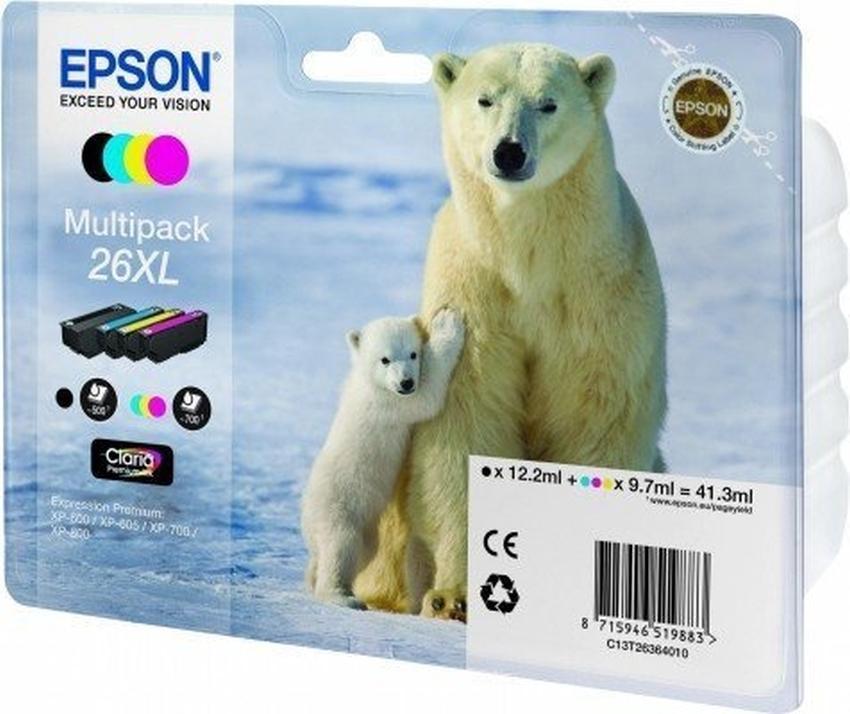 Tusz Epson T2636 XL zestaw CMYK [C13T26364010]
