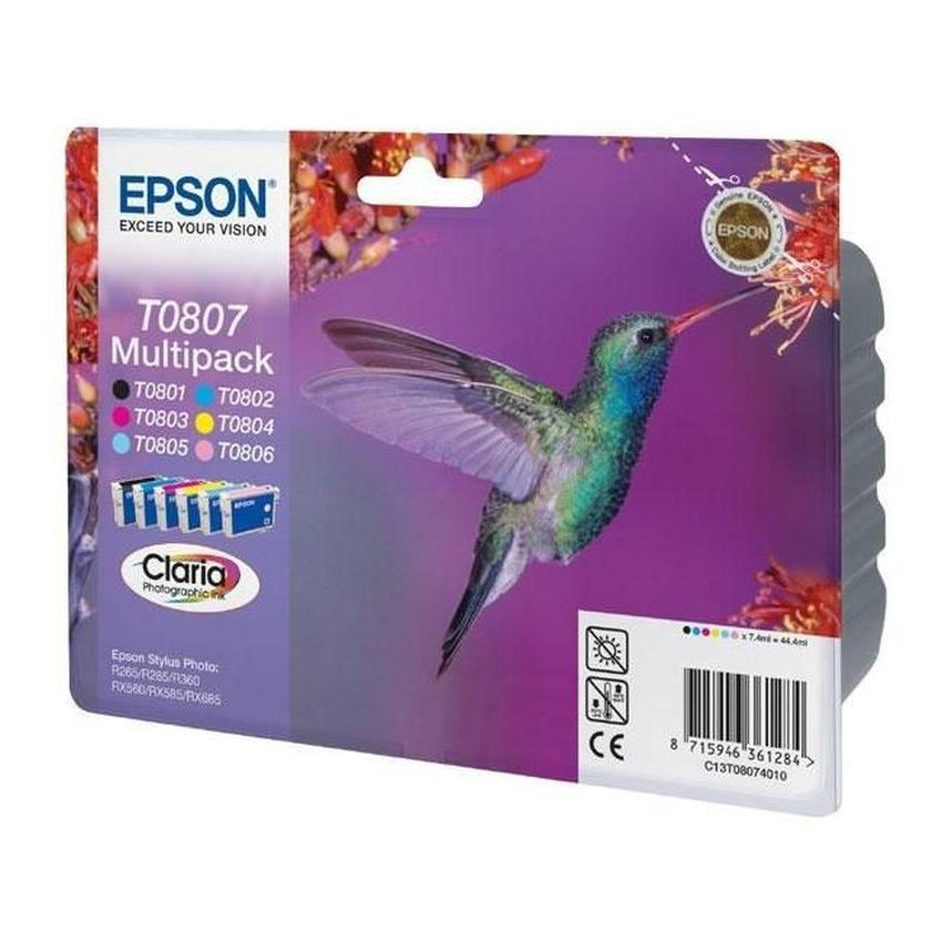 Tusz Epson T0807 [C13T08074011] Multipack