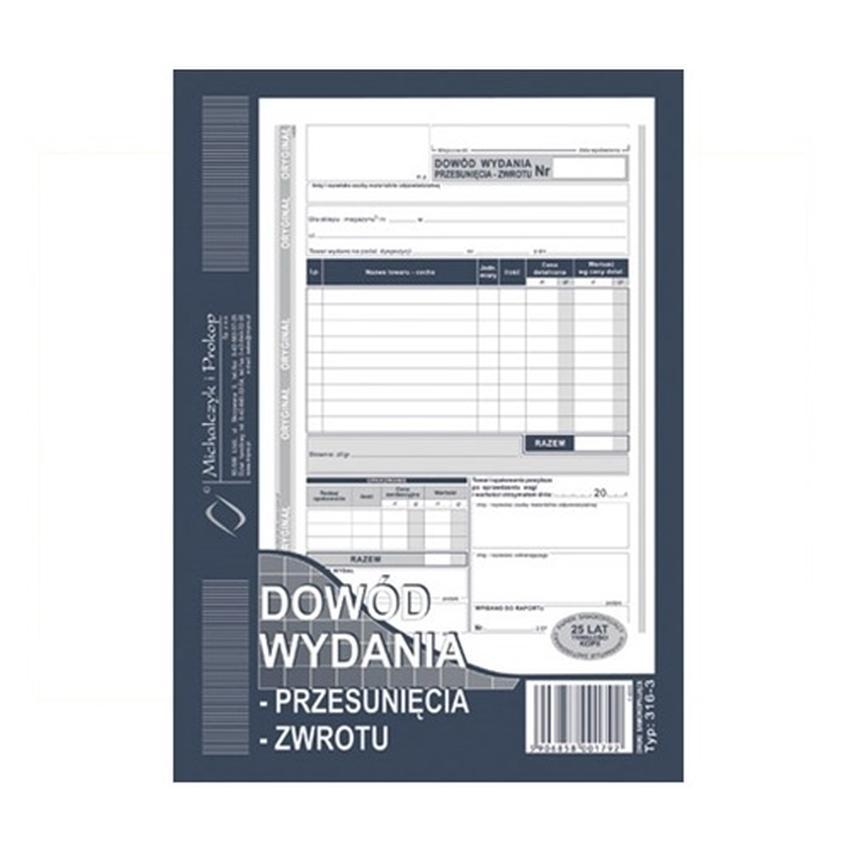 DOWÓD WYDANIA - PRZESUNIĘCIA - ZWROTU 316-3