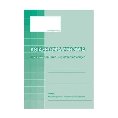 KSIĄŻECZKA ZDROWIA DO CELÓW SANITARNO-EPIDEMIOLOGICZNYCH 530-5