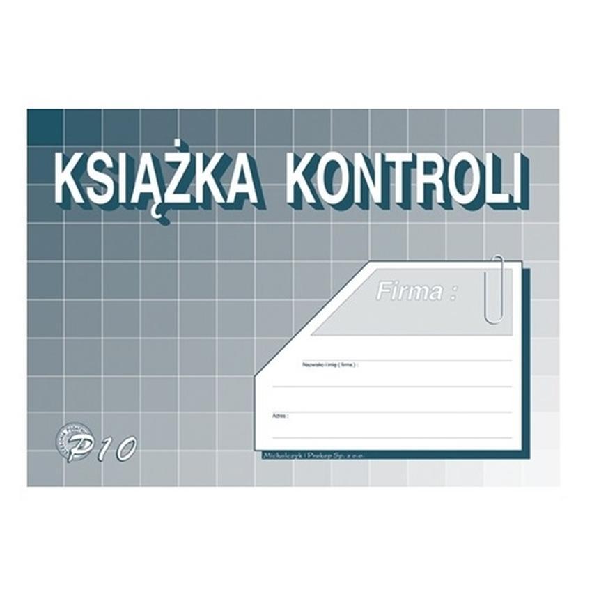 KSIĄŻKA KONTROLI P10