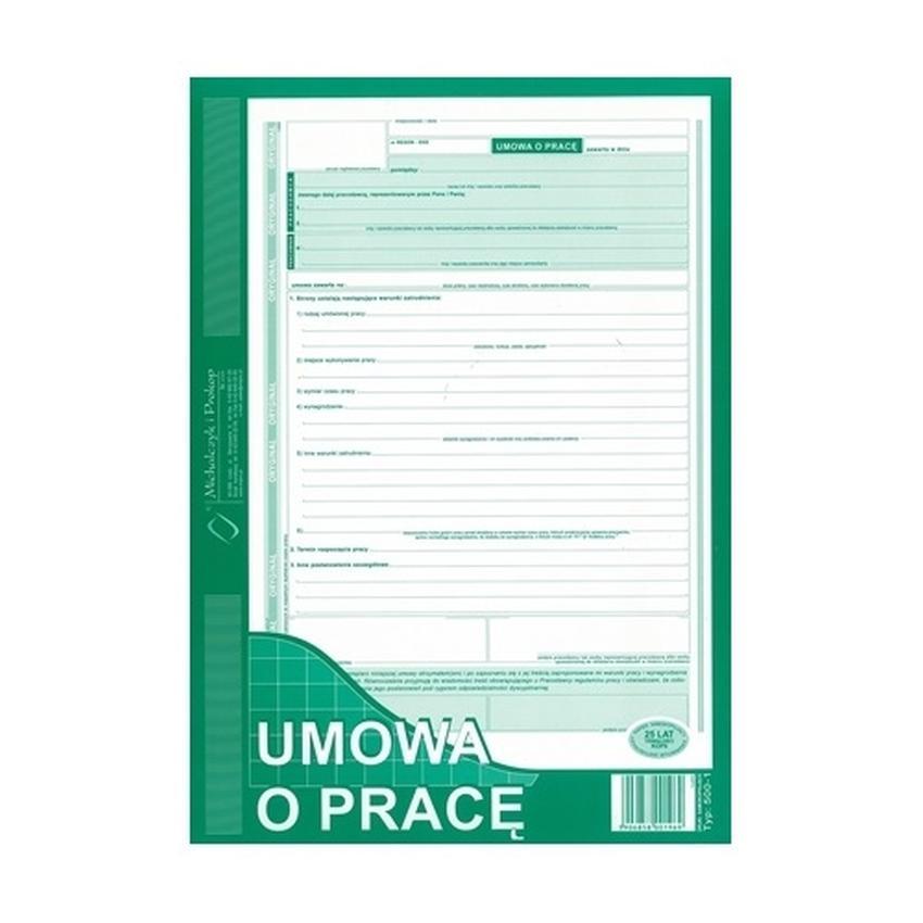 UMOWA O PRACĘ 500-1