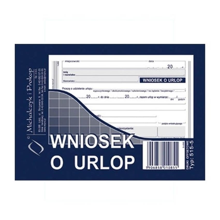 WNIOSEK O URLOP 515-5
