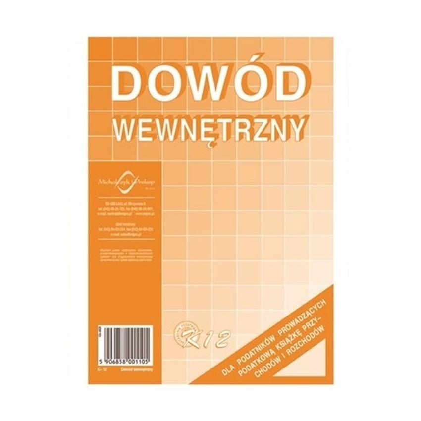 DOWÓD WEWNĘTRZNY K12
