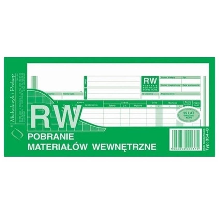 RW - POBRANIE MATERIAŁÓW WEWNĘTRZNE 354-8