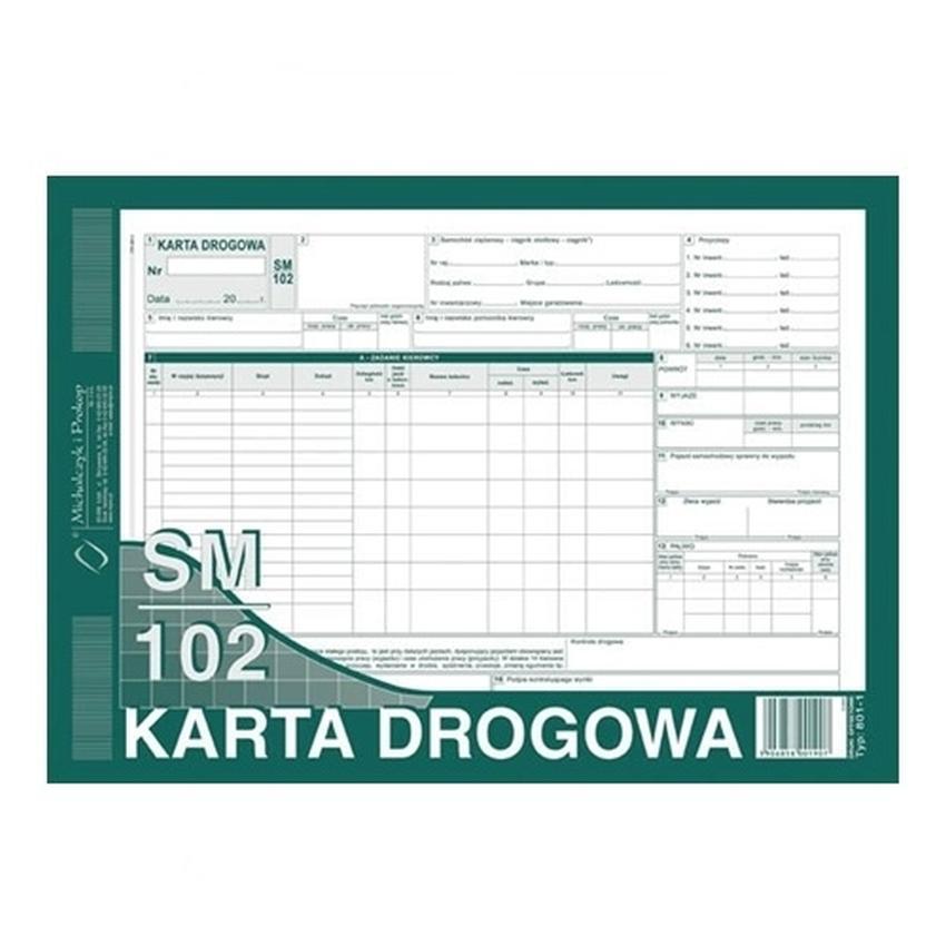 KARTA DROGOWA SM/102 (SAMOCHÓD CIĘŻĄROWY) 801-1