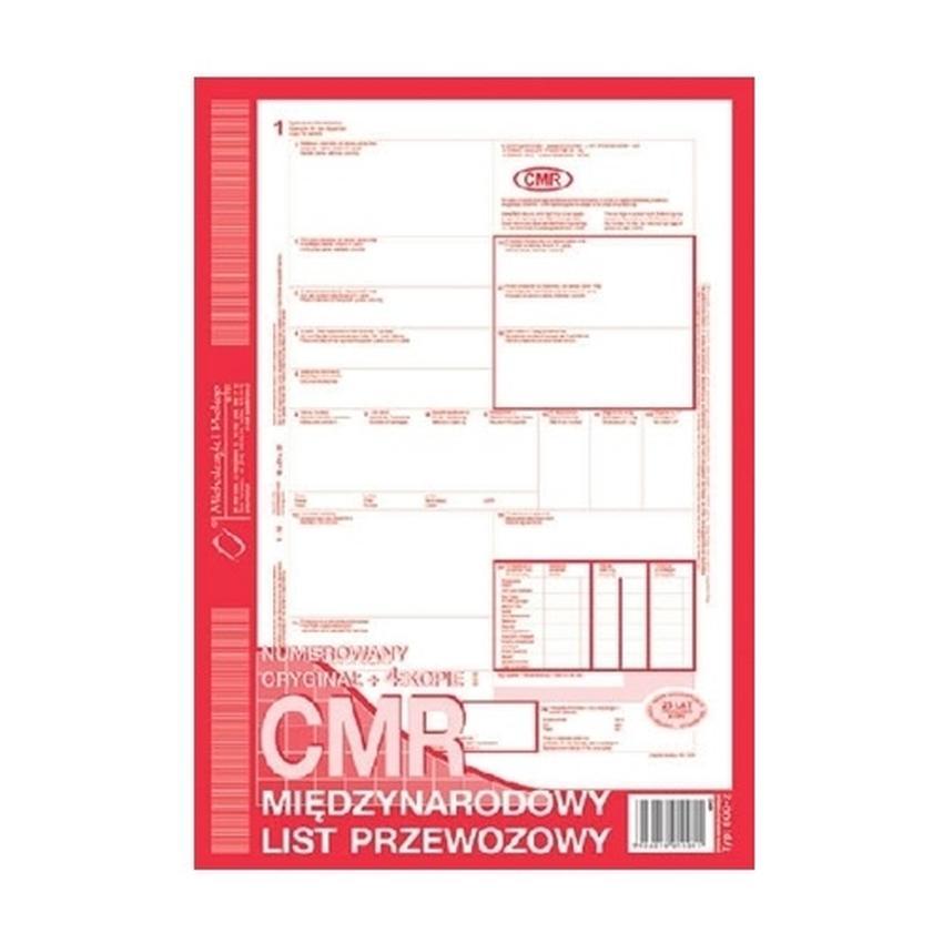 CMR - MIĘDZYNARODOWY LIST PRZEWOZOWY 800-2
