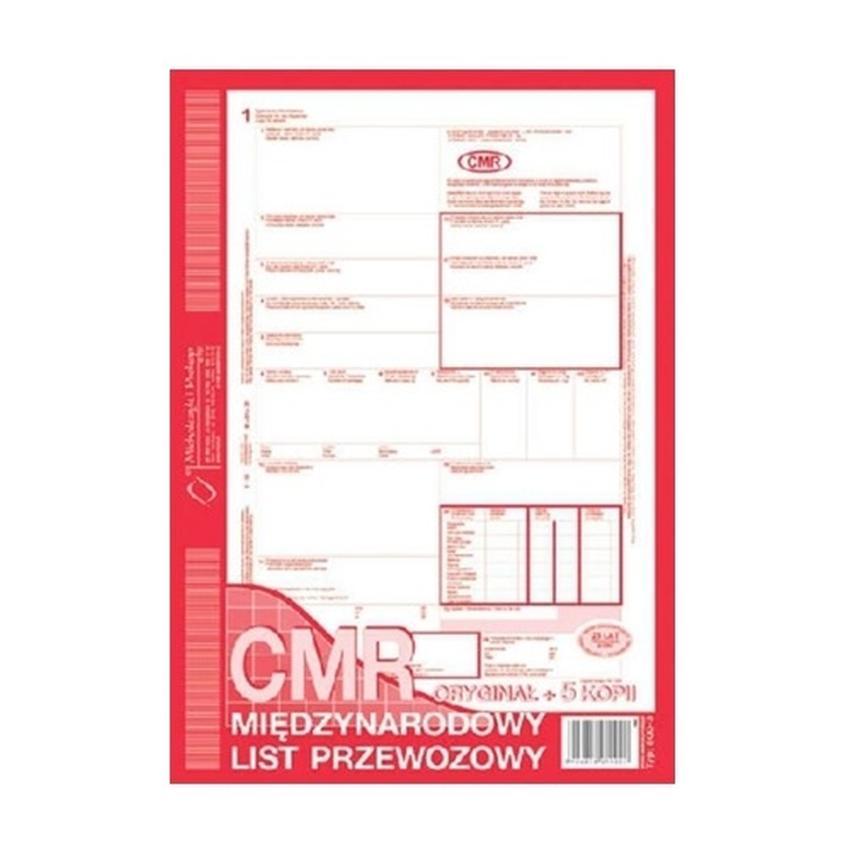 CMR - MIĘDZYNARODOWY LIST PRZEWOZOWY (NUMEROWANY) 800-3N