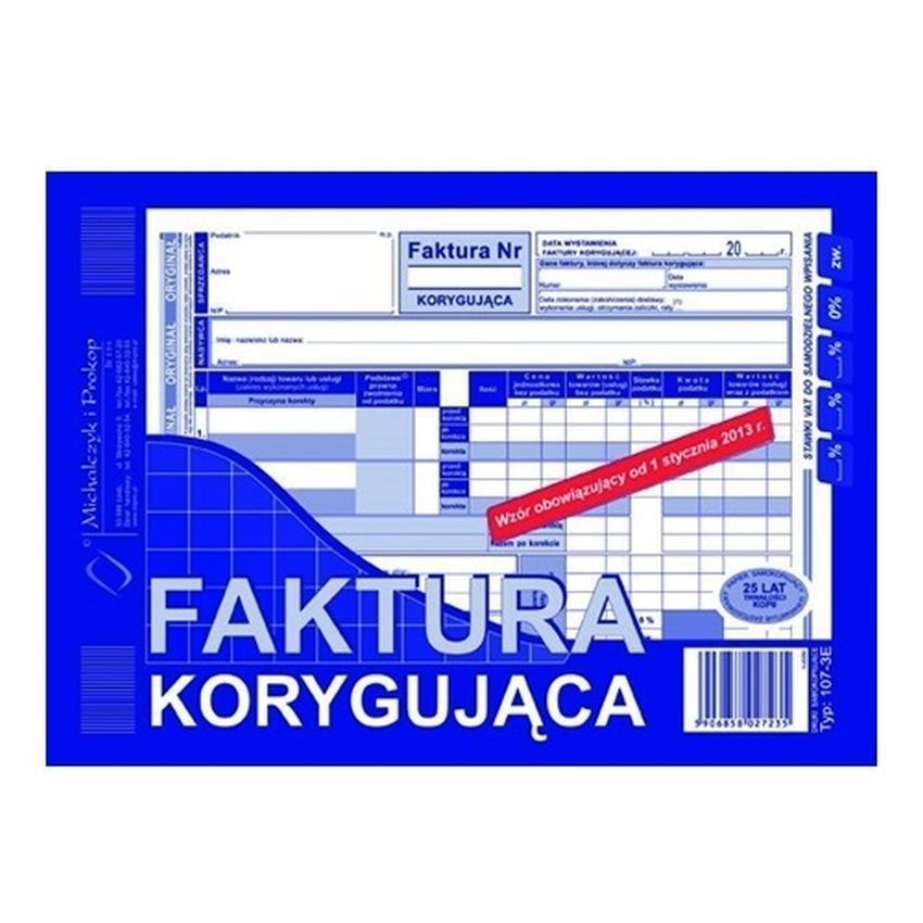 FAKTURA KORYGUJĄCA 107-3E