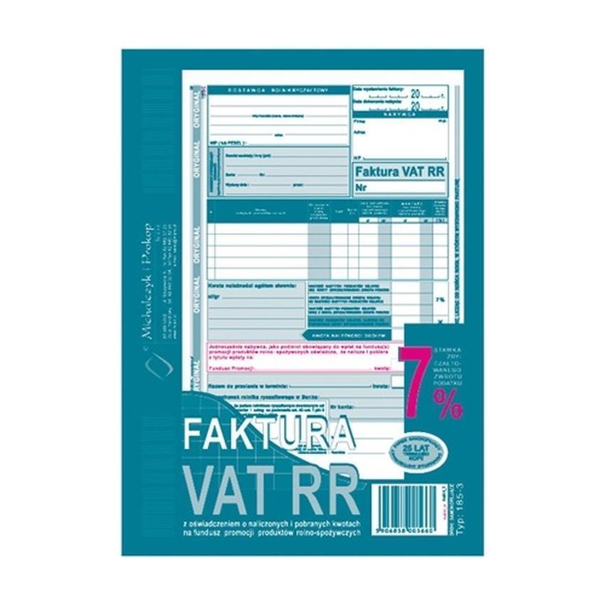 FAKTURY VAT RR 185-3