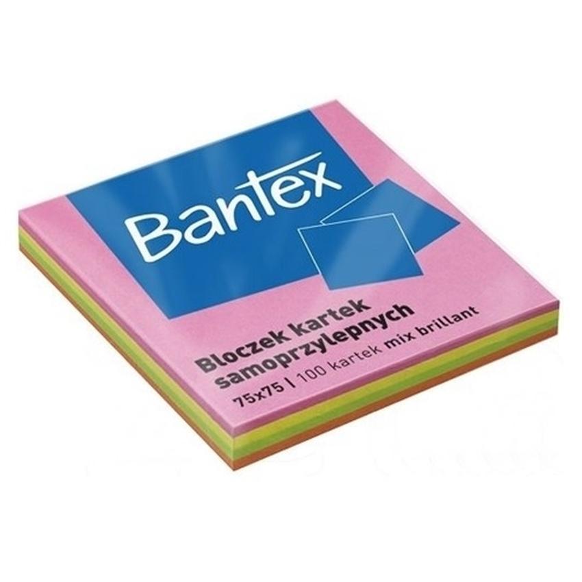 BLOCZEK KARTEK SAMOPRZYLEPNYCH BANTEX NEONOWY
