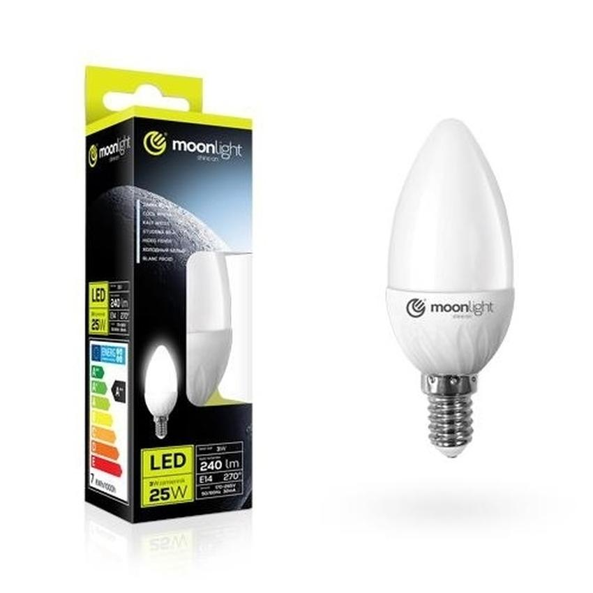 ŻARÓWKA LED MOONLIGHT E14 3W