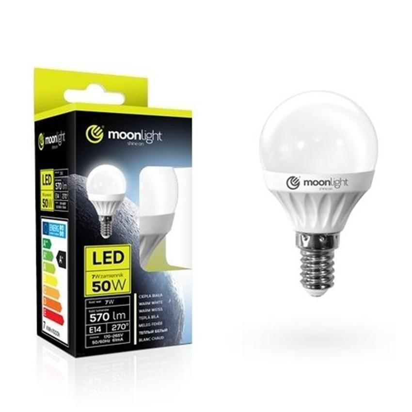 ŻARÓWKA LED MOONLIGHT E14 7W