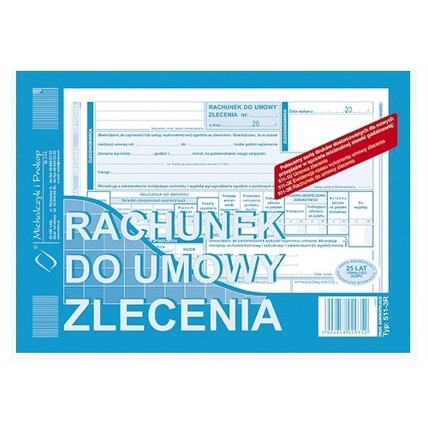 RACHUNEK DO UMOWY ZLECENIA 511-3R