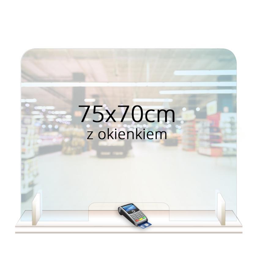 PRZEGRODA OCHRONNA - ANTYWIRUSOWA 75x70cm z okienkiem