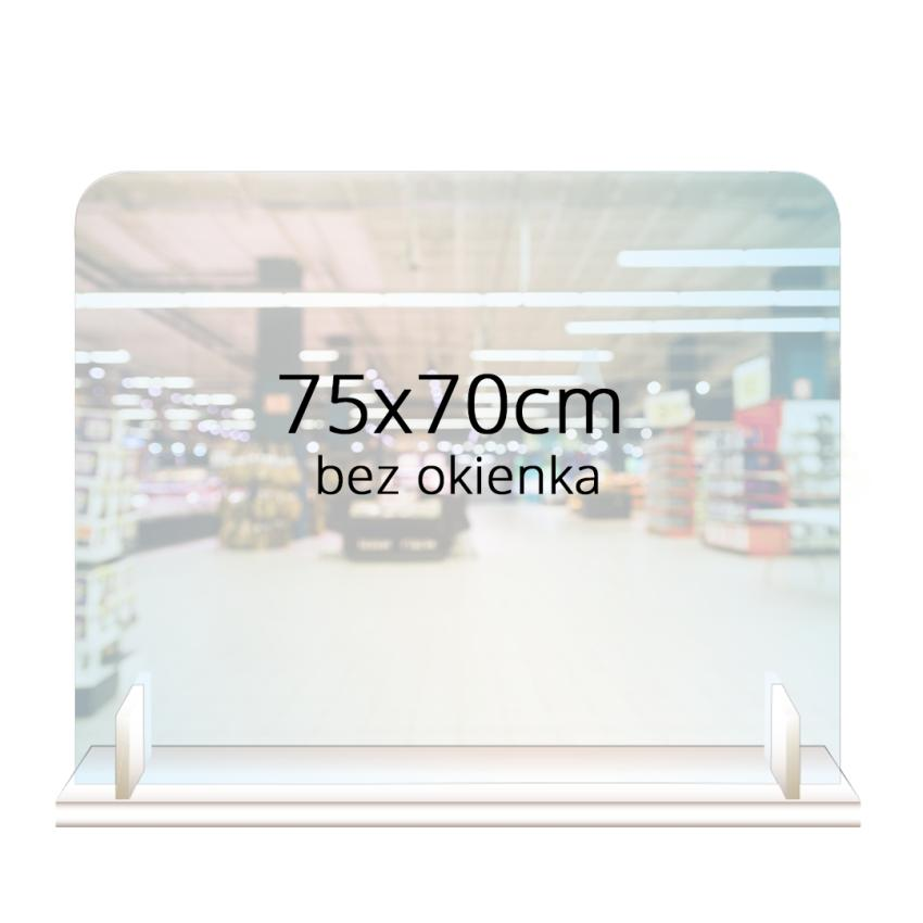 PRZEGRODA OCHRONNA - ANTYWIRUSOWA 75x70cm bez okienka