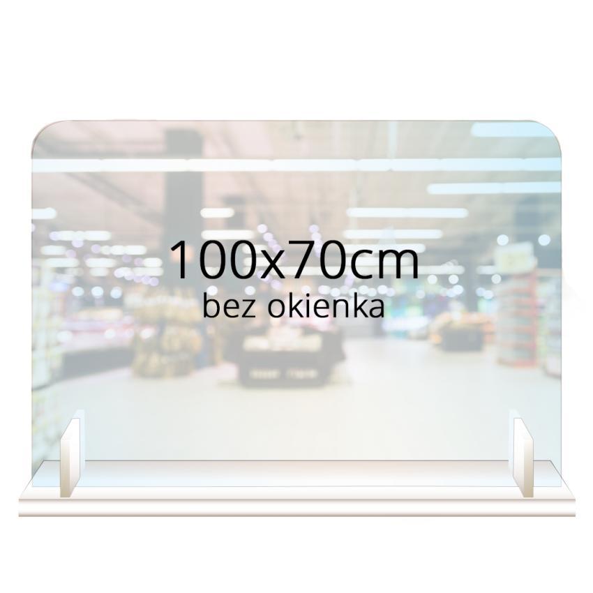 PRZEGRODA OCHRONNA - ANTYWIRUSOWA 100x70cm bez okienka