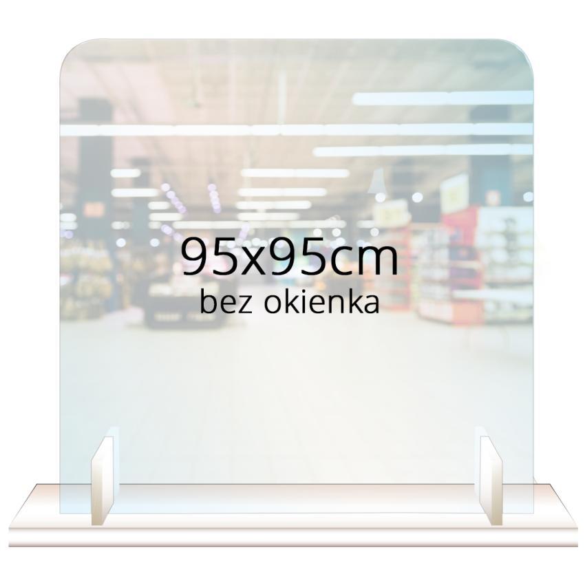 PRZEGRODA OCHRONNA - ANTYWIRUSOWA 95x95cm bez okienka