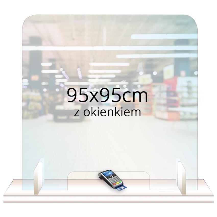 PRZEGRODA OCHRONNA - ANTYWIRUSOWA 95x95cm z okienkiem