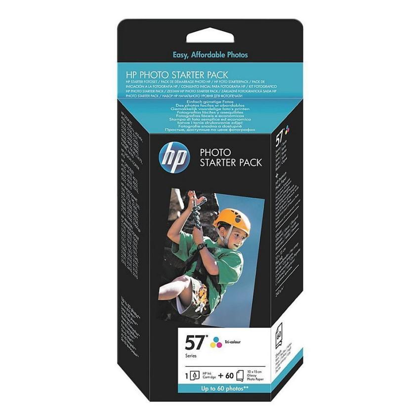 HP PhotoPack: nr 57 + Papier foto zestaw [Q7942AE]