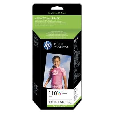 HP nr 110 + papier 140ar k 10x15cm zestaw [Q8898AE]